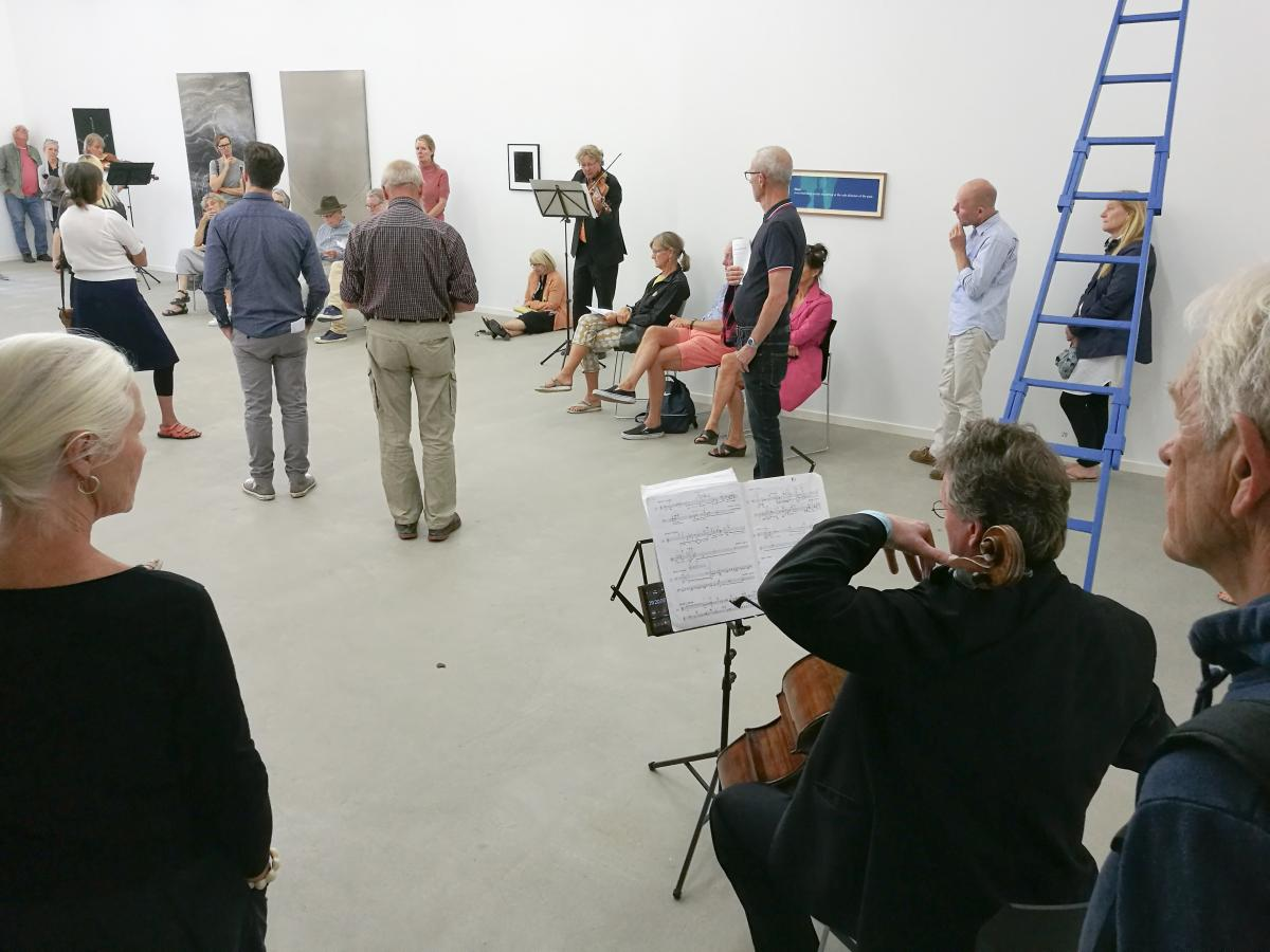 Performing Cage 30 Pieces at the Galery
